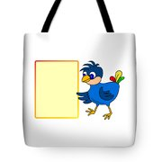 Little Bird With Message Board Tote Bag