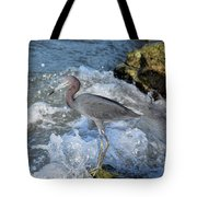 Little Blue And A Splash Tote Bag