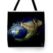 Little Blue And White Fish Tea Pot Still Life Tote Bag