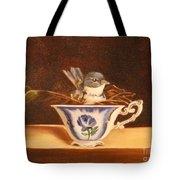Little Blue Bird Tote Bag