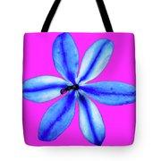 Little Blue Flower On Dark Pink Tote Bag