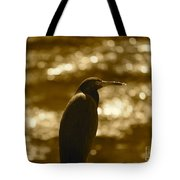 Little Blue Heron In Golden Light Tote Bag