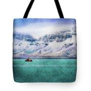 Little Boat In Reykjavik Bay Tote Bag