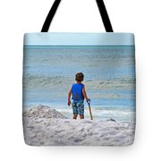 Little Boy Big Dreams Tote Bag