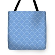 Little Boy Blue Quatrefoil Tote Bag