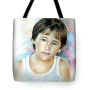 Little Boy From Tahiti Tote Bag
