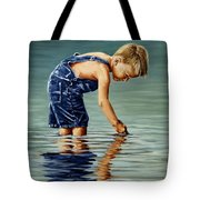 Little Boy Reflection Tote Bag