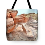 Little Castle Above Wash 3 In Valley Of Fire Tote Bag