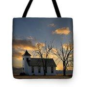 Little Church On The Prairie Tote Bag