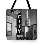 Little City Market North Beach San Francisco Bw Tote Bag