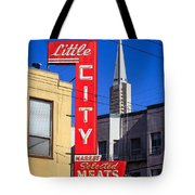Little City Sign North Beach Tote Bag