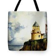 Little Cumbrae Lighthouse Tote Bag