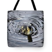 Little Duckling Goes For A Swim Tote Bag