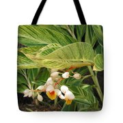 Little Flower In The Leaves II Tote Bag
