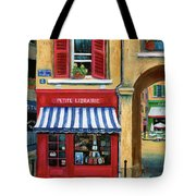 Little French Book Store Tote Bag