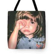 Little Girl Blue Tote Bag by Tom Zukauskas