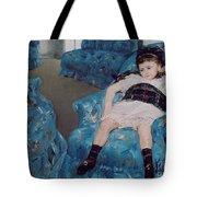 Little Girl In A Blue Armchair Tote Bag by Mary Stevenson Cassatt