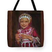 Little Girl In India Tote Bag