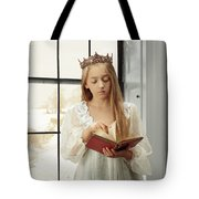 Little Girl Reading Book Tote Bag