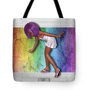 Little Girl Sneaks Out Of Frame Tote Bag