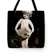 Little Girl With A Bird Tote Bag