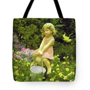 Little Girl With Pail Tote Bag