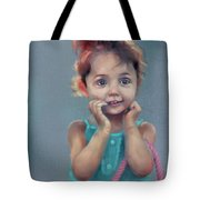 Little Girl With Purse Tote Bag