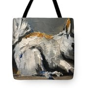 Little Gray Squirrel Tote Bag