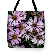 Little Green Bug Among The Flowers Tote Bag