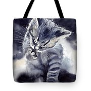 Little Grey Cat Tote Bag