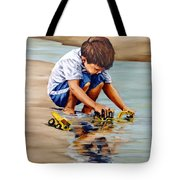 Little Guy Playing Tote Bag