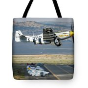 P51 Mustang Little Horse Gear Coming Up Friday At Reno Air Races 5x7 Aspect Tote Bag