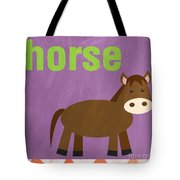 Little Horse Tote Bag by Linda Woods