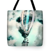 Little Hot Air Balloon Pendant And Clouds Tote Bag