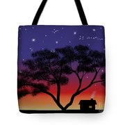 Little House At Sunset Tote Bag