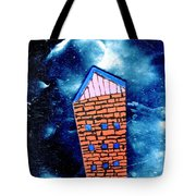 Little House In The Cosmos Tote Bag