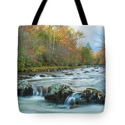 Little Pigeon River Great Smoky Mountains National Park In Fall Tote Bag