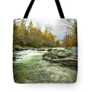 Little Pigeon River Greenbrier Area Of Smoky Mountains Tote Bag