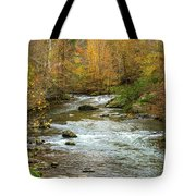 Little Pigeon River In Fall Smoky Mountains National Park Tote Bag