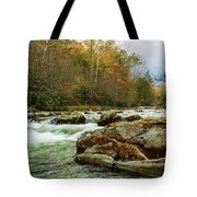 Little Pigeon River In The Greenbrier Section Of Smoky Mountains Tote Bag