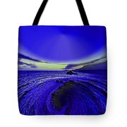 Little Planet Blue Tote Bag