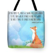 Little Prince Fox Quote, Text Art Tote Bag