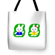 Little Rabbit Boy And Rabbit Girl Tote Bag