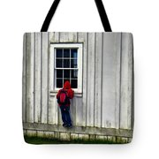 Little Red Peeping Tom Tote Bag