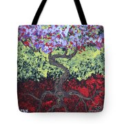 Little Red Tree 2 Tote Bag