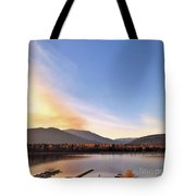 Little River In The Fall Tote Bag