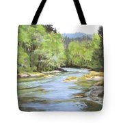 Little River Morning Tote Bag