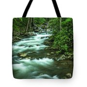Little River Tremont Area Of Smoky Mountains National Park Tote Bag