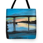 Little River Waterfront Tote Bag