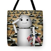 Little Robo-x9 Says Tanks Alot Tote Bag